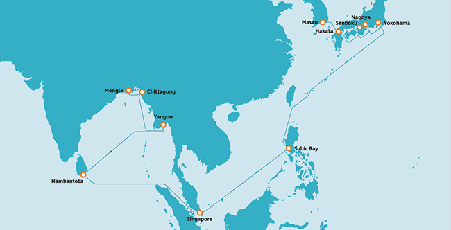 ベンガル湾航路
